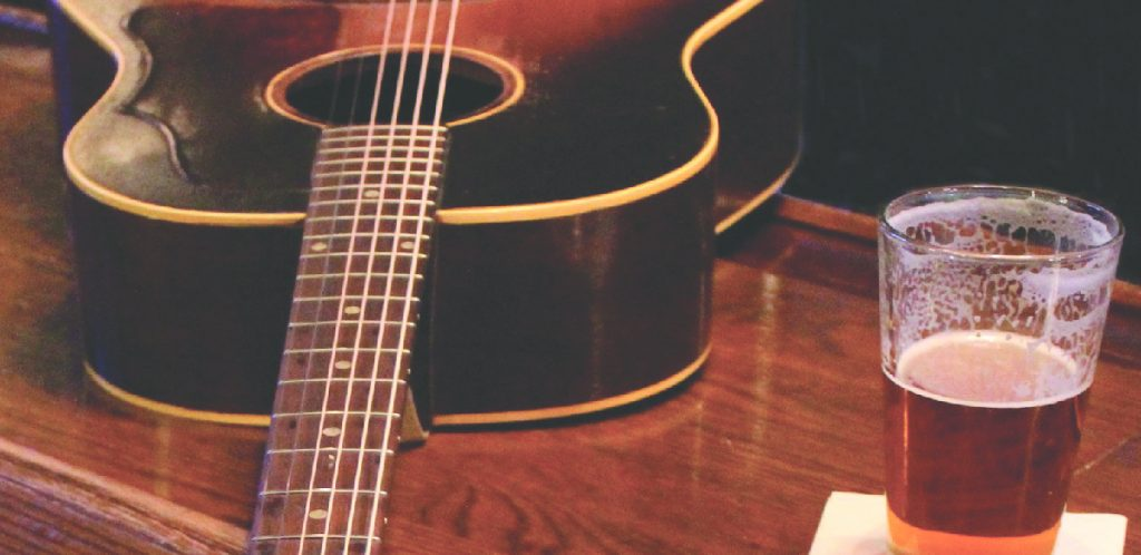 Guitar and a glass